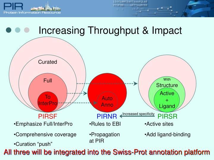 Increasing Throughput & Impact