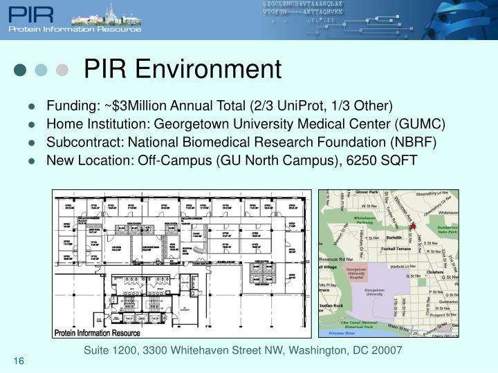 PIR Environment