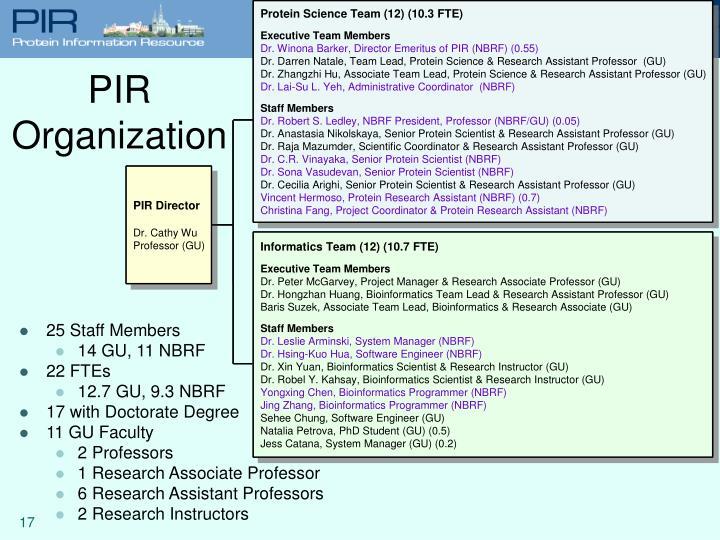 PIR Organization