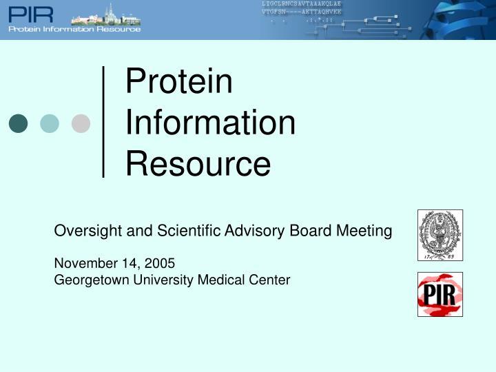 Protein information resource