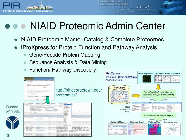 NIAID Proteomic Admin Center