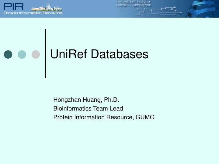 UniRef Databases