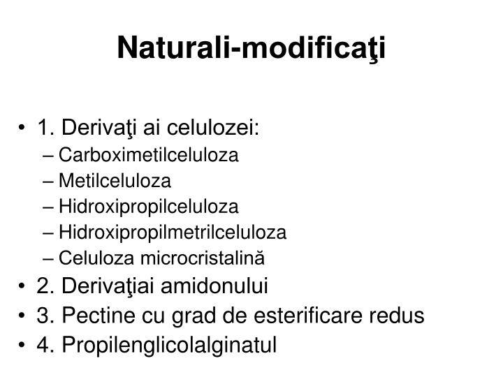 Naturali-modificaţi