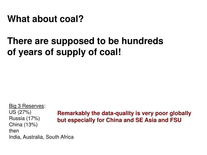 What about coal?