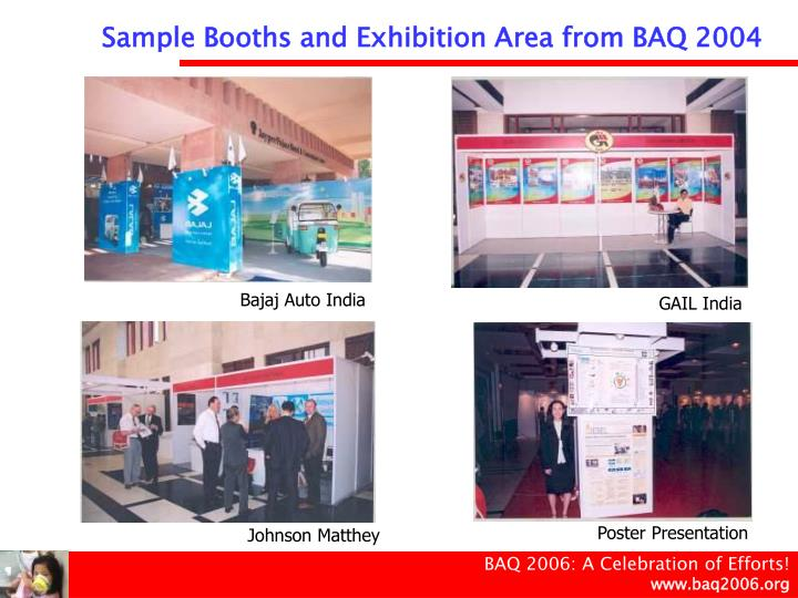 Sample Booths and Exhibition Area from BAQ 2004