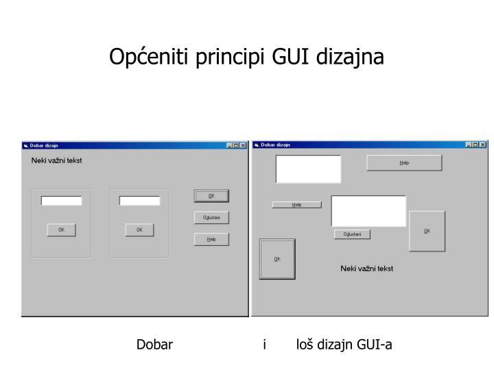 Općeniti principi GUI dizajna