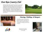 deer run country club