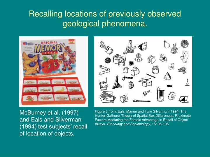 Recalling locations of previously observed