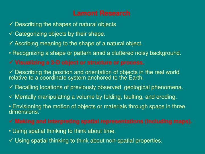 Lamont Research