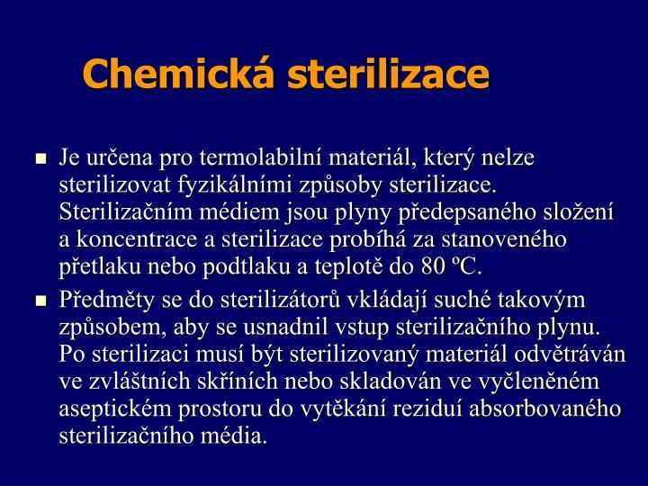 Chemická sterilizace