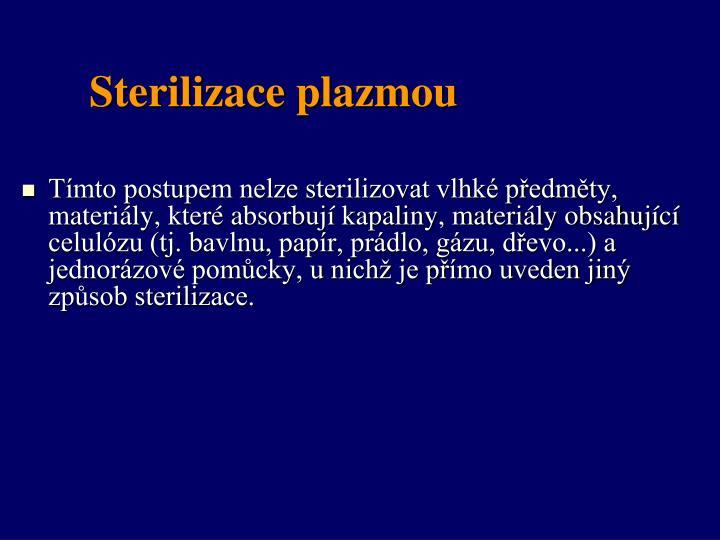 Sterilizace plazmou