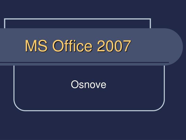 ms office 2007 n.