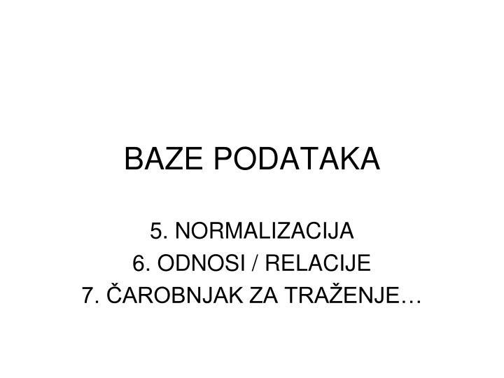 baze podataka n.