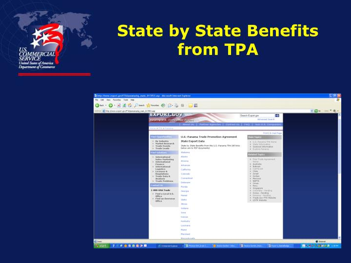 State by State Benefits from TPA