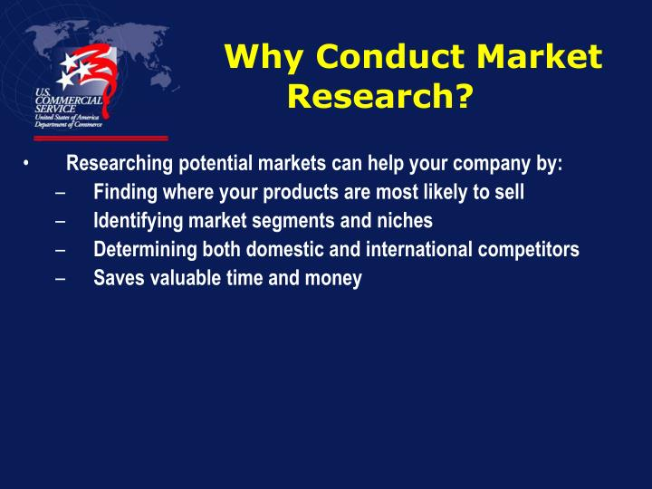 Why conduct market research
