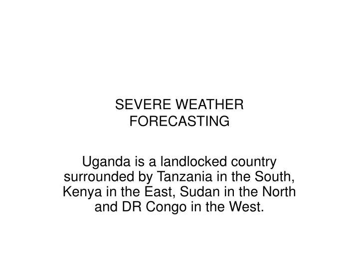 Severe weather forecasting