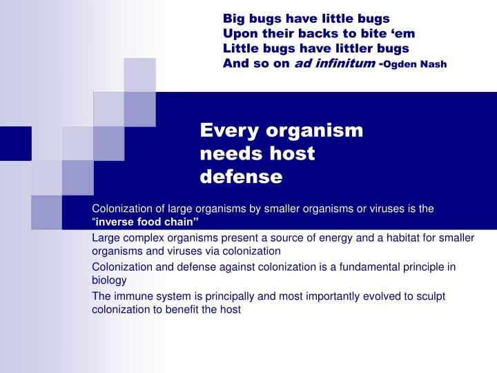 Big bugs have little bugs