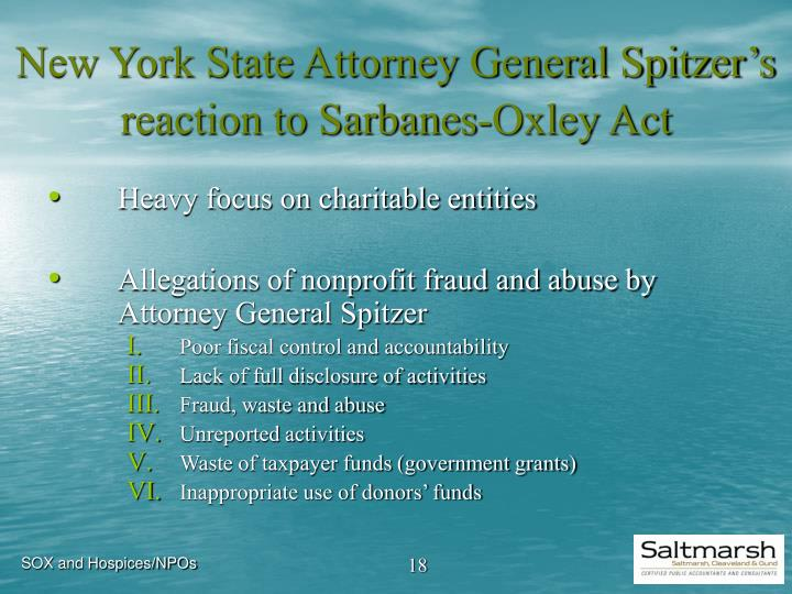 the sarbanes-oxley act essay Sarbanes oxley act essay submitted by mtc_on1 words: 916 sarbanes-oxley act corporation environments are continually changing with one exception-fraud with particular reference to public organizations, fraud has been cited as the number one cause of loss of company funds.