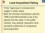 land acquisition taking