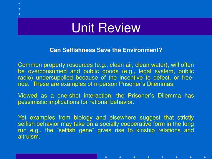 Unit Review