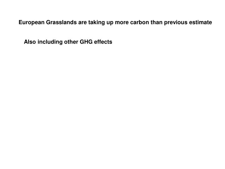 European Grasslands are taking up more carbon than previous estimate