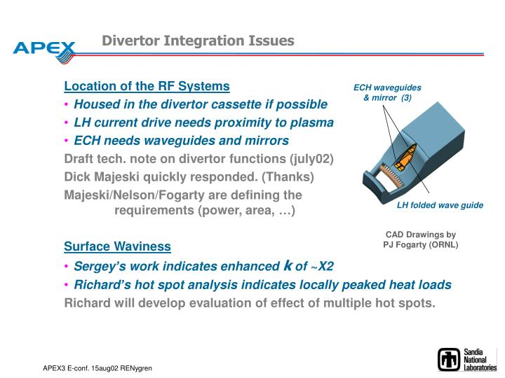 Divertor Integration Issues