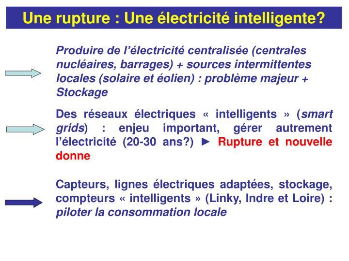 Une rupture : Une électricité intelligente?