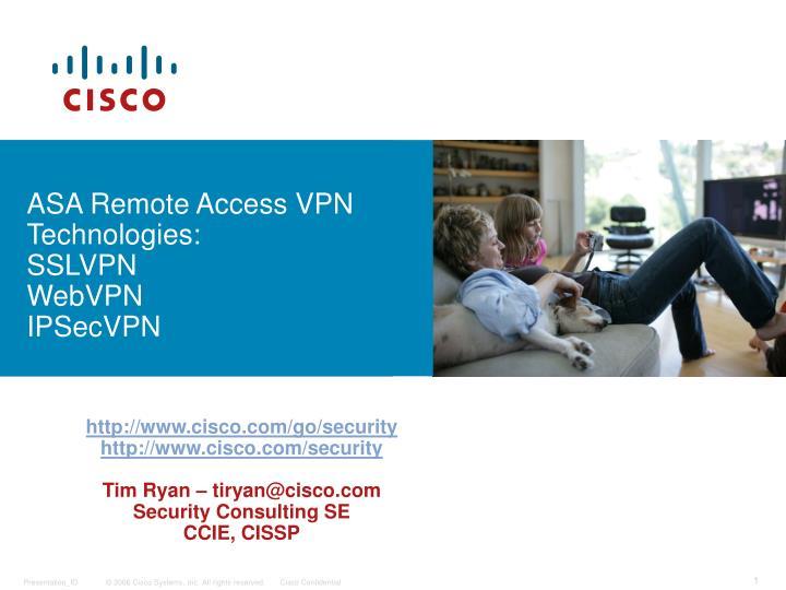 asa remote access vpn technologies sslvpn webvpn ipsecvpn n.