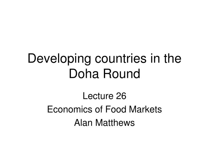 developing countries in the doha round n.