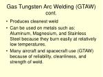 gas tungsten arc welding gtaw cont
