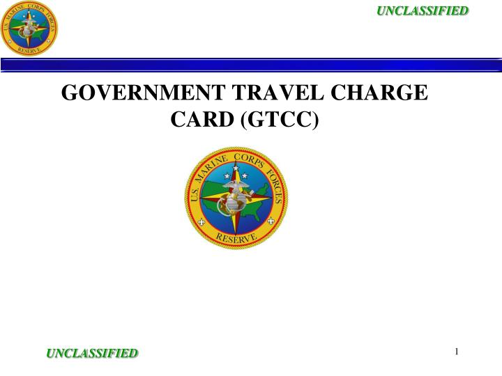 government travel charge card gtcc n.