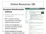 online resources ebi