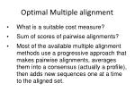 optimal multiple alignment