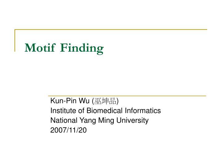 motif finding n.