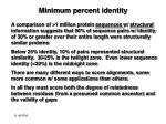 minimum percent identity