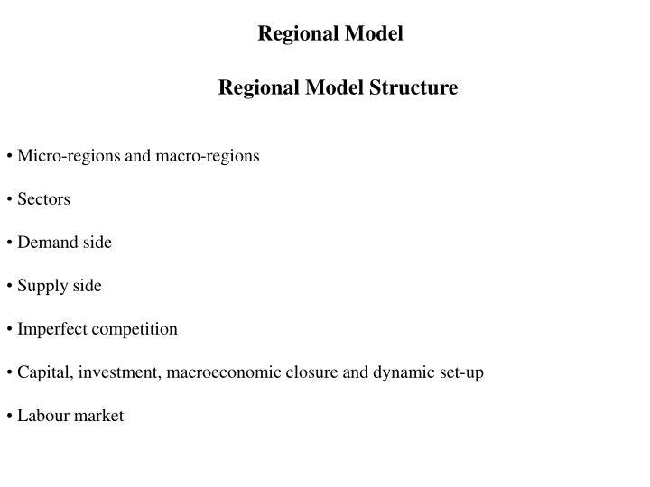 Regional Model