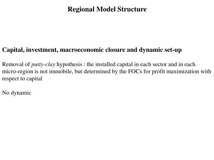 Regional Model Structure