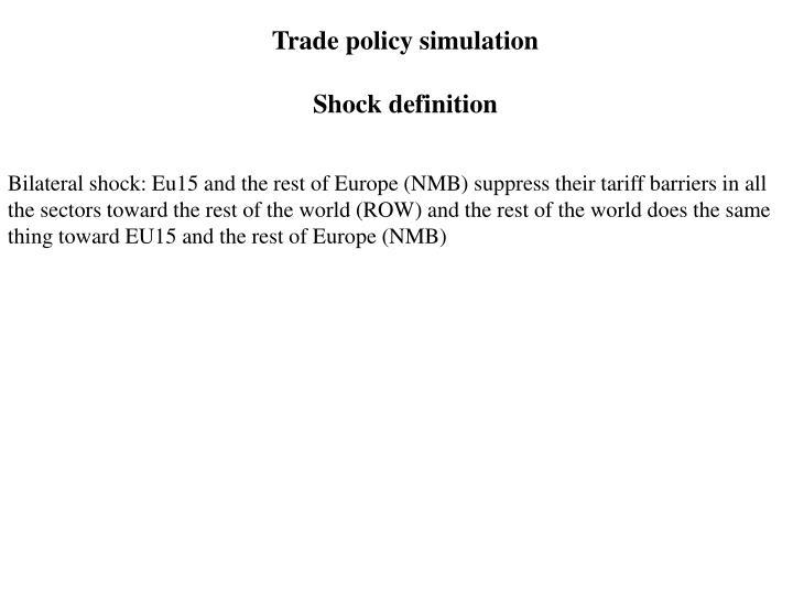 Trade policy simulation