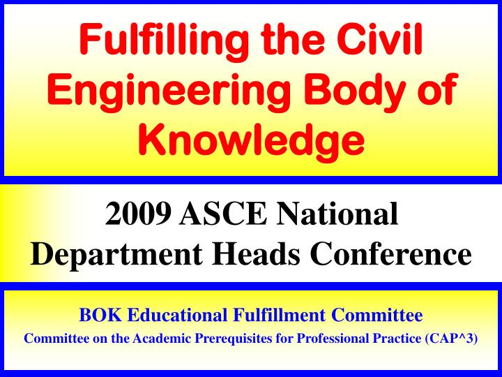 fulfilling the civil engineering body of knowledge n.