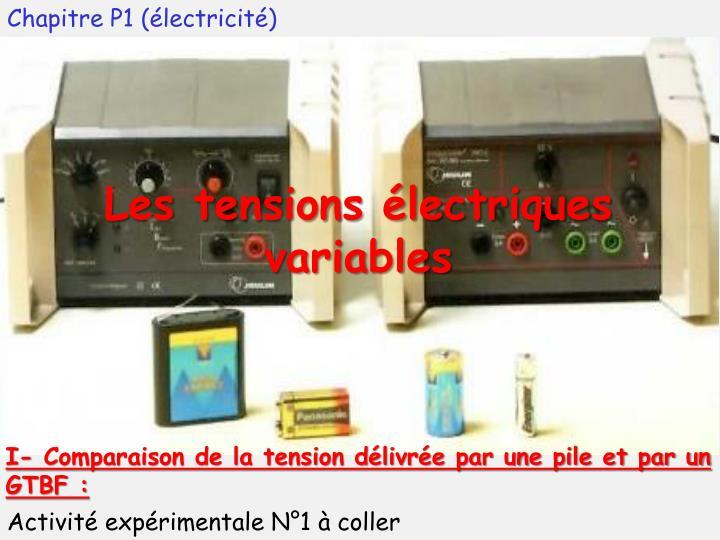 Chapitre P1 (électricité)