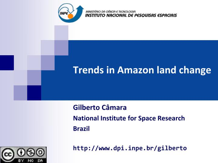 trends in amazon land change n.