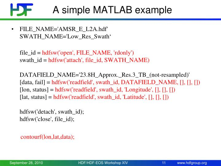 A simple MATLAB example