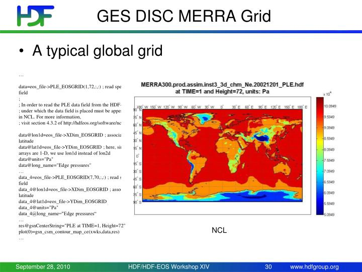 GES DISC MERRA Grid