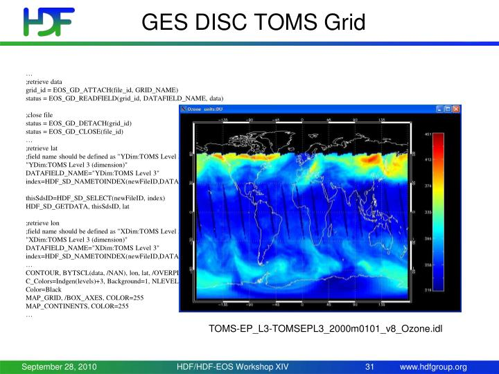 GES DISC TOMS Grid