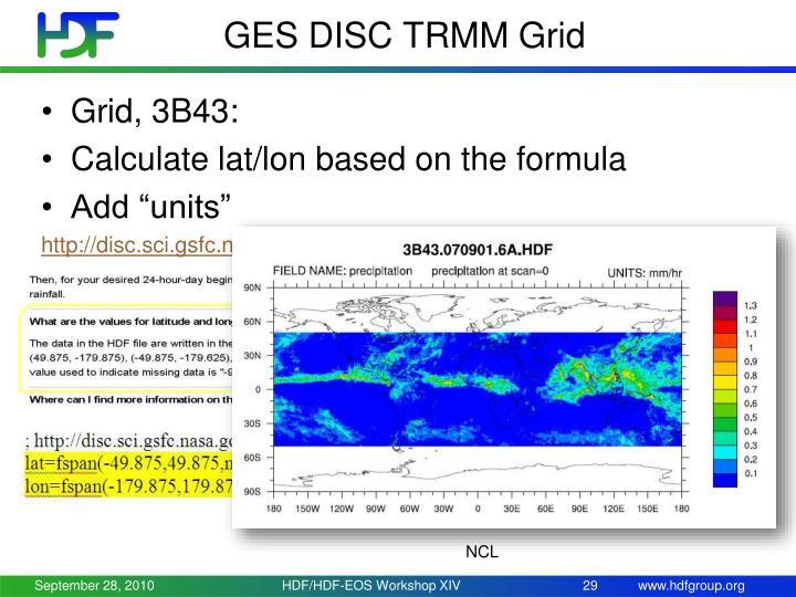 GES DISC TRMM Grid