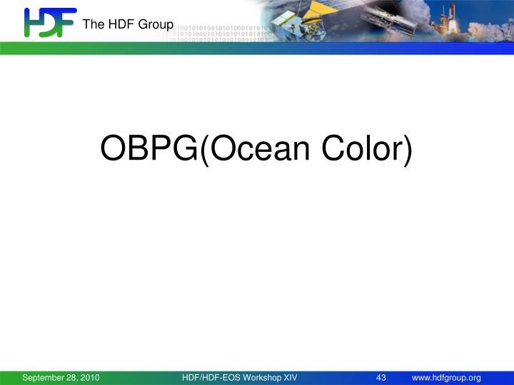 OBPG(Ocean Color)