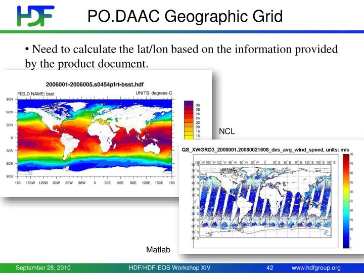 PO.DAAC Geographic Grid