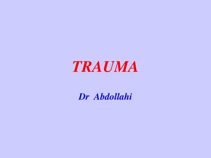 trauma n.