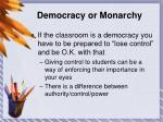 democracy or monarchy