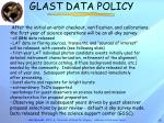 glast data policy